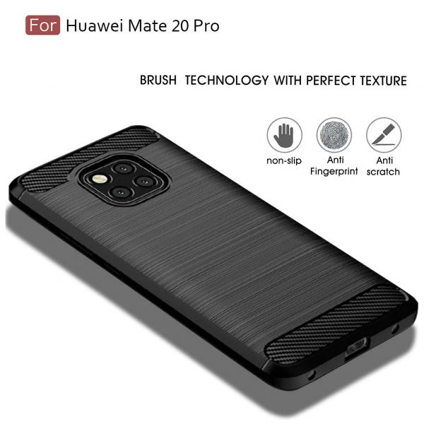 Husa Air Carbon pentru Huawei Mate 20 Pro, Negru 1