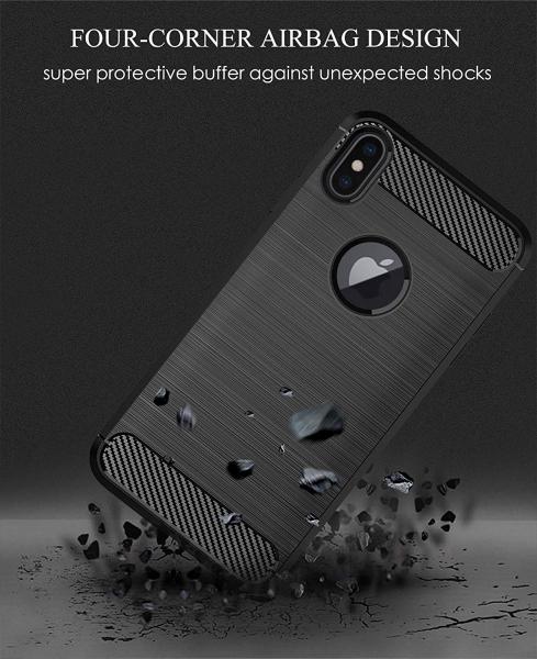 Husa Air Carbon pentru iPhone XS Max, Negru 3