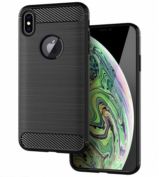 Husa Air Carbon pentru iPhone XS Max, Negru 1