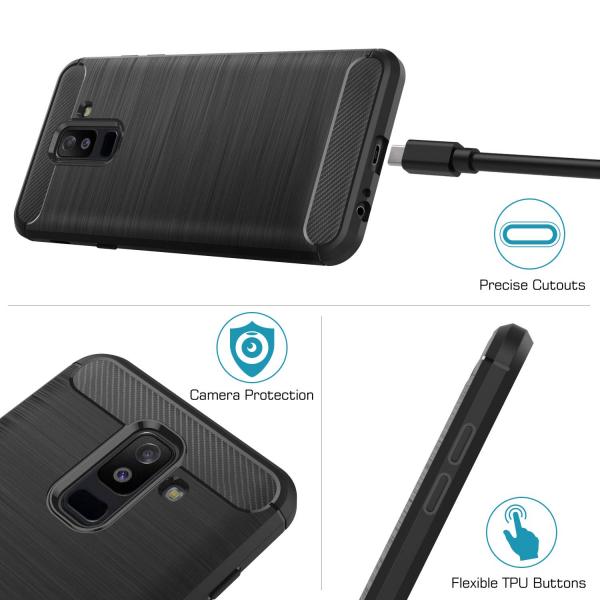 Husa Air Carbon pentru Samsung Galaxy A6 Plus (2018), Negru 2