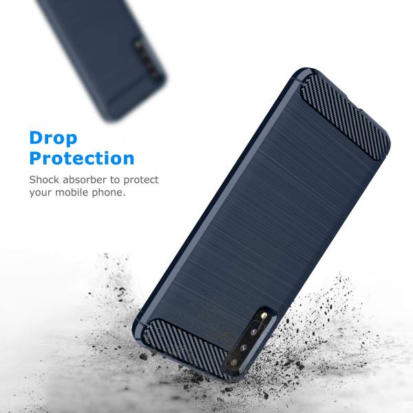 Husa Air Carbon pentru Samsung Galaxy A7 (2018), Dark Blue 3