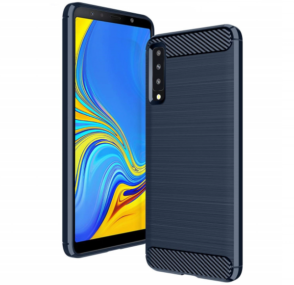 Husa Air Carbon pentru Samsung Galaxy A7 (2018), Dark Blue 0