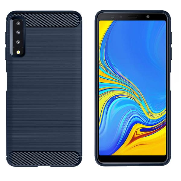 Husa Air Carbon pentru Samsung Galaxy A7 (2018), Dark Blue 1