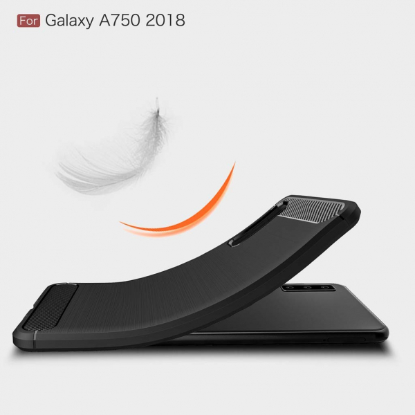 Husa Air Carbon pentru Samsung Galaxy A7 (2018), Negru 3