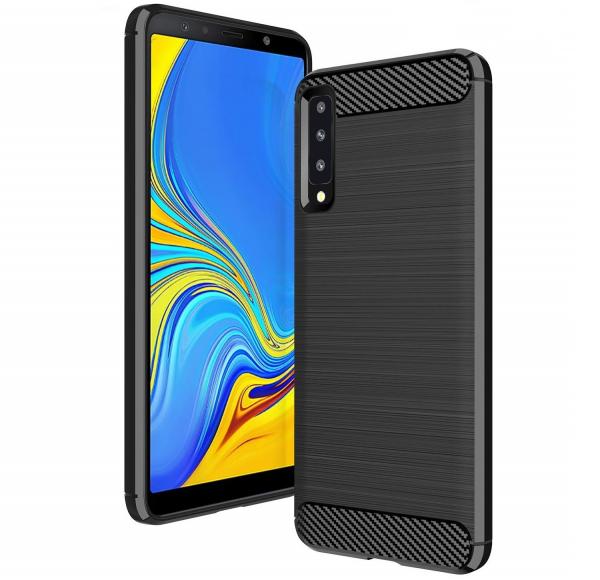 Husa Air Carbon pentru Samsung Galaxy A7 (2018), Negru 0