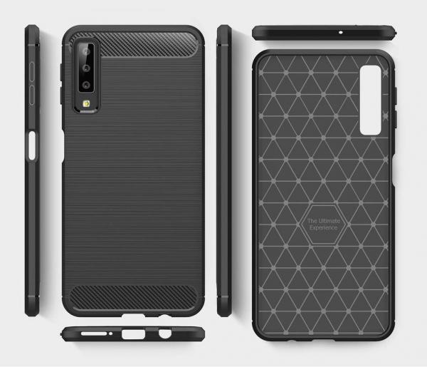 Husa Air Carbon pentru Samsung Galaxy A7 (2018), Negru 1