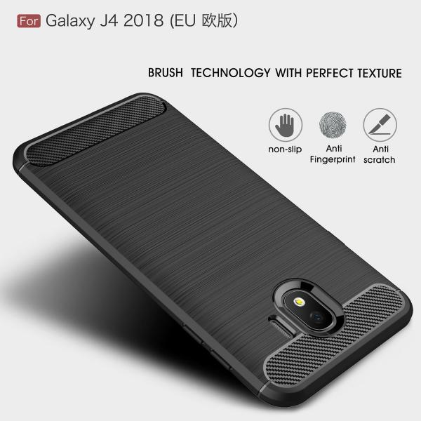 Husa Air Carbon pentru Samsung Galaxy J4 (2018), Negru 1