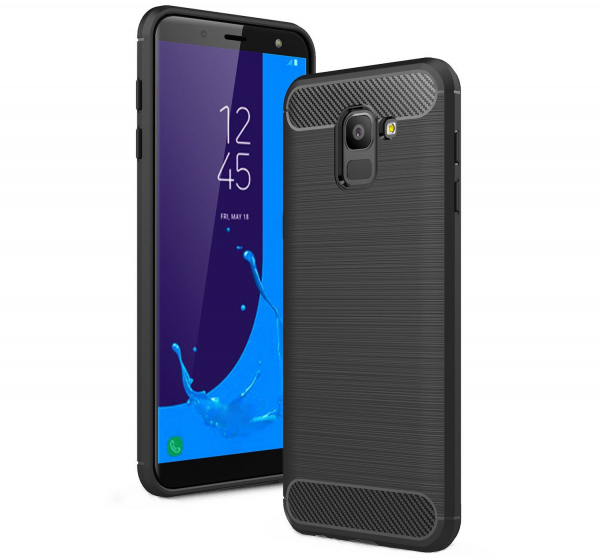 Husa Air Carbon pentru Samsung Galaxy J6 (2018), Negru 0
