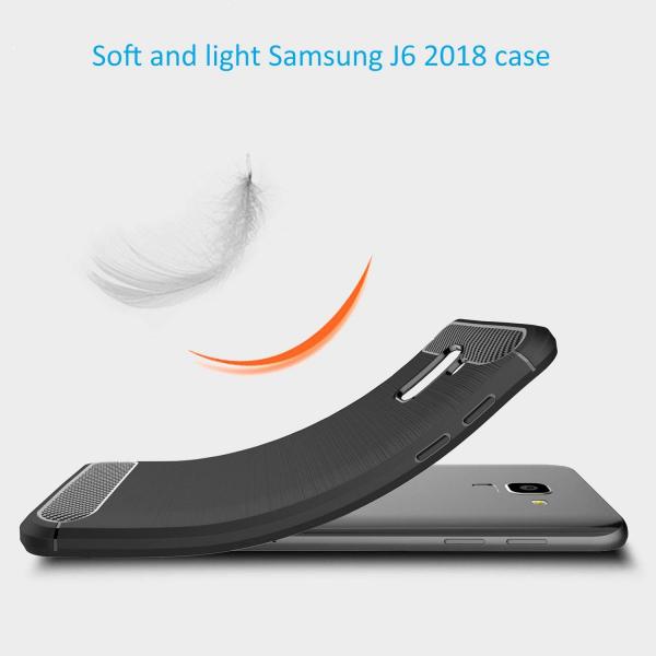Husa Air Carbon pentru Samsung Galaxy J6 (2018), Negru 2
