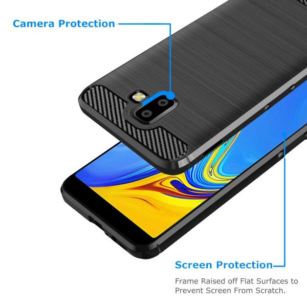 Husa Air Carbon pentru Samsung Galaxy J6 Plus (2018), Negru 1