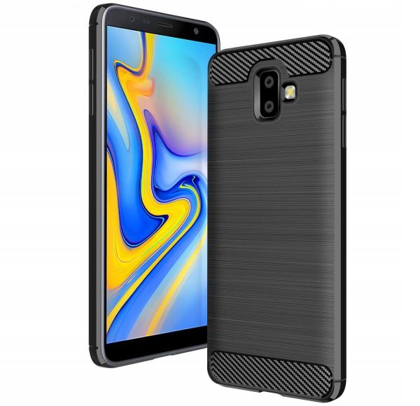 Husa Air Carbon pentru Samsung Galaxy J6 Plus (2018), Negru 0