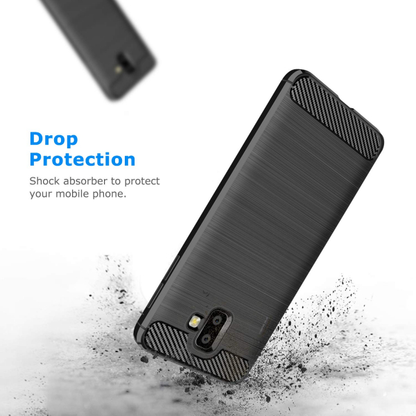 Husa Air Carbon pentru Samsung Galaxy J6 Plus (2018), Negru 2