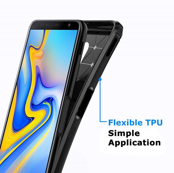 Husa Air Carbon pentru Samsung Galaxy J6 Plus (2018), Negru 4