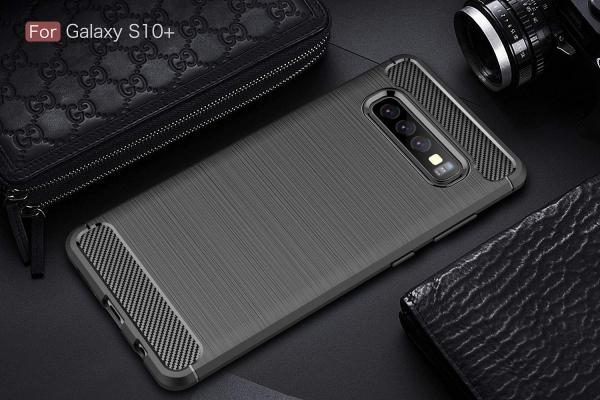 Husa Air Carbon pentru Samsung Galaxy S10+, Negru 3