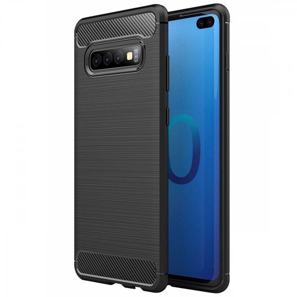 Husa Air Carbon pentru Samsung Galaxy S10+, Negru 0