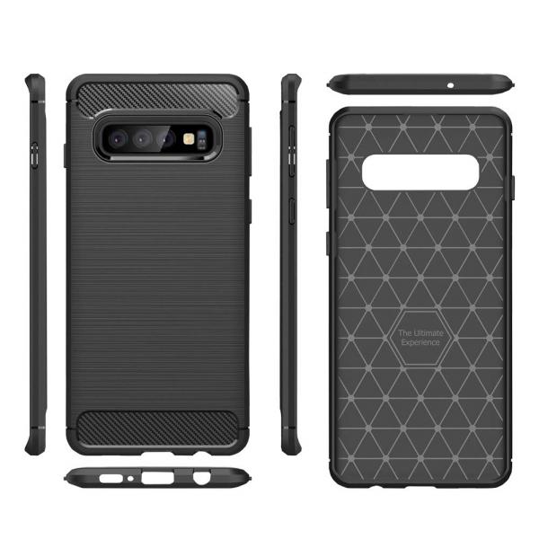 Husa Air Carbon pentru Samsung Galaxy S10, Negru 1