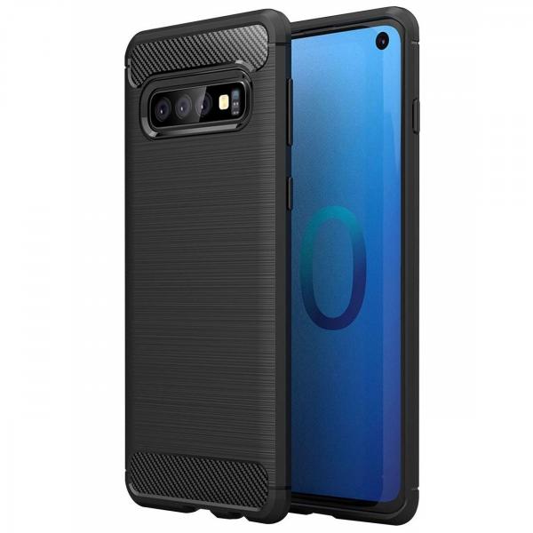 Husa Air Carbon pentru Samsung Galaxy S10, Negru 0