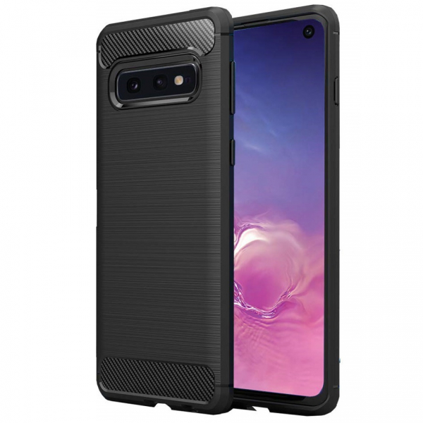 Husa Air Carbon pentru Samsung Galaxy S10e, Negru 0