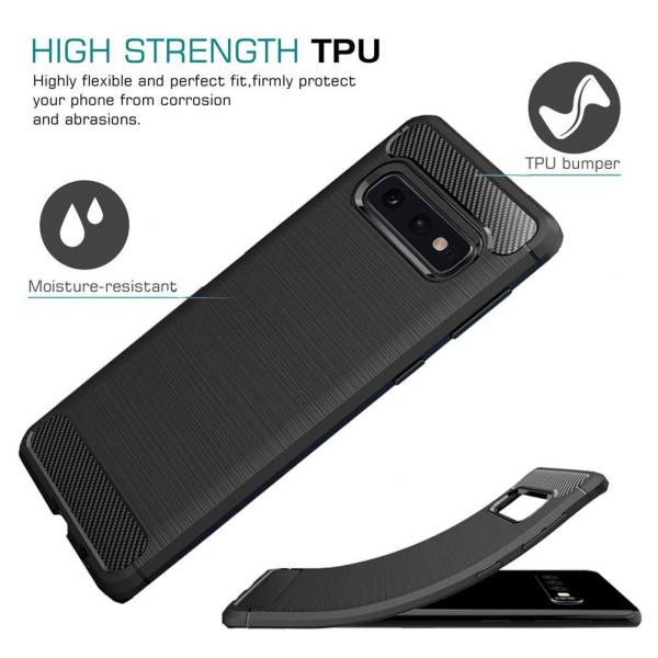 Husa Air Carbon pentru Samsung Galaxy S10e, Negru [3]