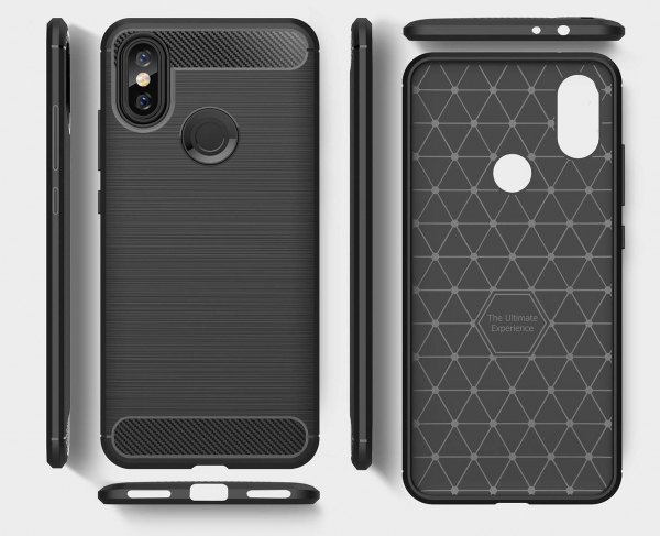 Husa Air Carbon pentru Xiaomi Mi A2, Negru 1