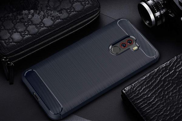 Husa Air Carbon pentru Xiaomi Pocophone F1, Dark Blue 1