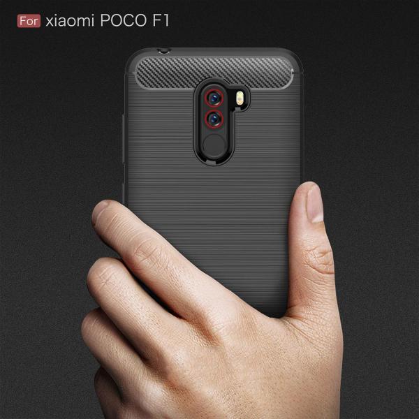 Husa Air Carbon pentru Xiaomi Pocophone F1, Negru 1