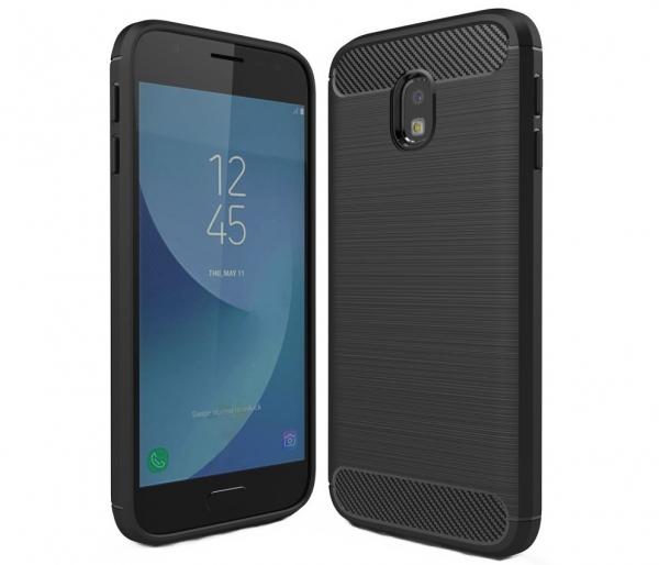 Husa Air Carbon Samsung Galaxy J3 (2017), Negru [0]
