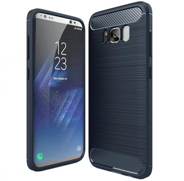 Husa Air Carbon Samsung Galaxy S8, Dark Blue 0