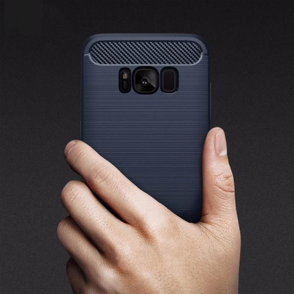 Husa Air Carbon Samsung Galaxy S8, Dark Blue 3