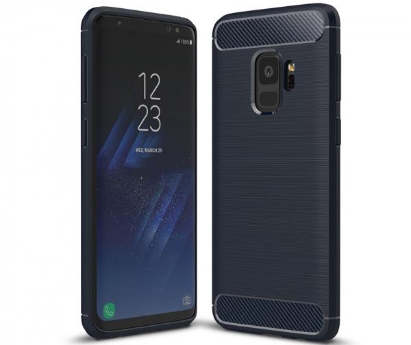 Husa Air Carbon Samsung Galaxy S9, Dark Blue [0]