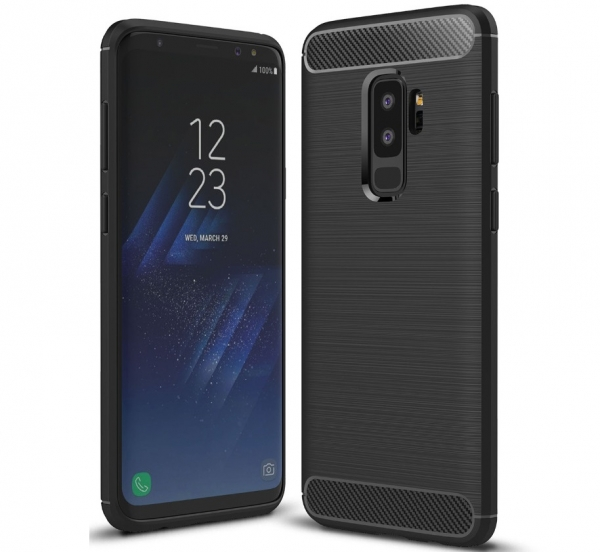 Husa Air Carbon Samsung Galaxy S9 Plus, Negru 0