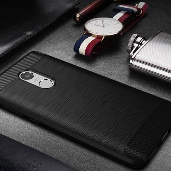 Husa Air Carbon Xiaomi Redmi Note 4, Negru 2