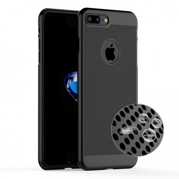 Husa Air cu perforatii iPhone 7 Plus, Negru [1]