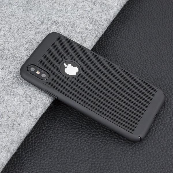 Husa Air cu perforatii iPhone X, Negru 1