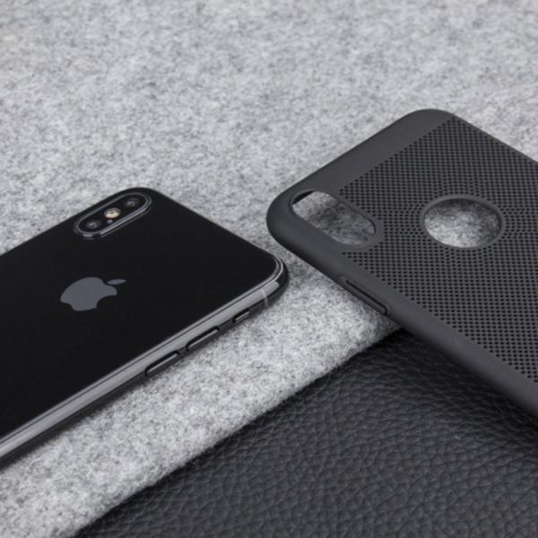 Husa Air cu perforatii iPhone X, Negru 2