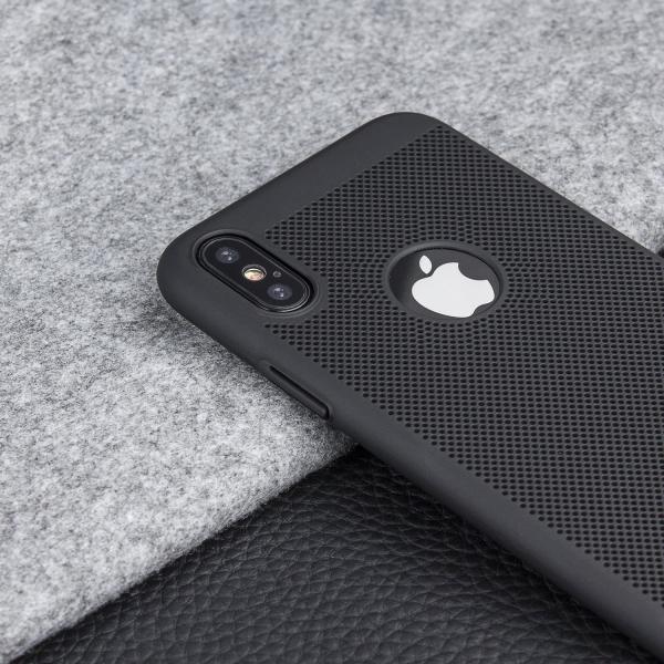 Husa Air cu perforatii iPhone X, Negru 3