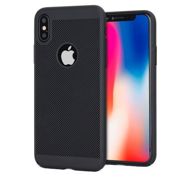 Husa Air cu perforatii iPhone X, Negru 0