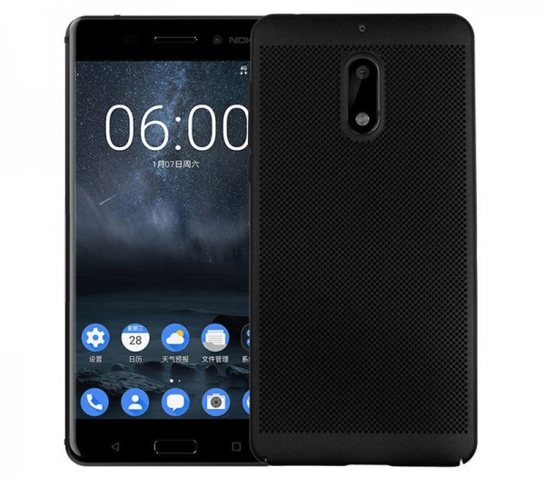 Husa Air cu perforatii Nokia 6, Negru [0]