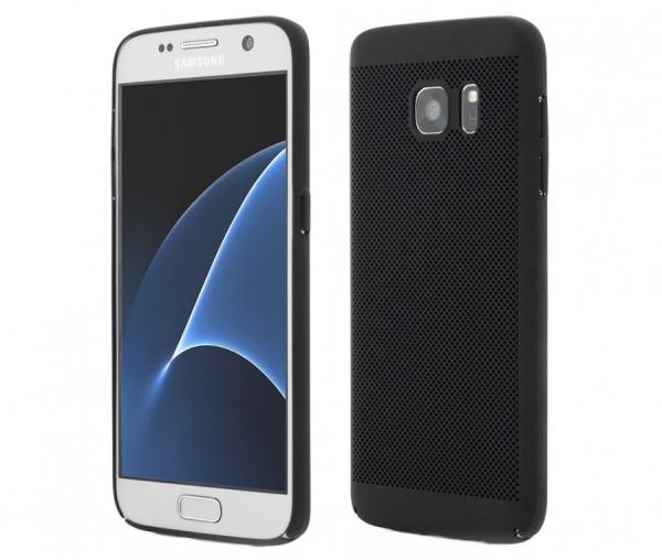 Husa Air cu perforatii Samsung Galaxy S7, Negru [0]