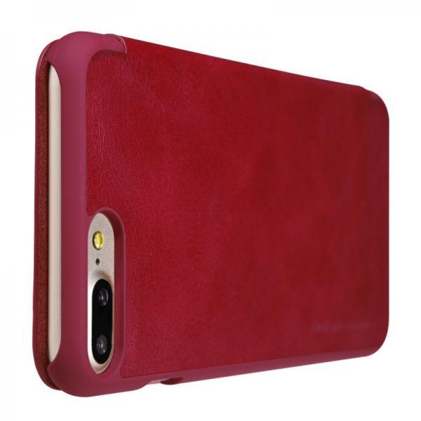 Husa Book Nillkin Qin iPhone 7 Plus, Rosu 4
