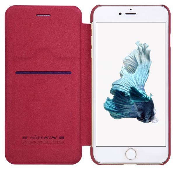 Husa Book Nillkin Qin iPhone 7 Plus, Rosu 3
