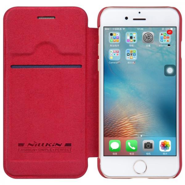 Husa Book Nillkin Qin iPhone 7, Rosu 3