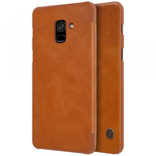Husa Book Nillkin Qin Samsung Galaxy A8 (2018), Maro [1]