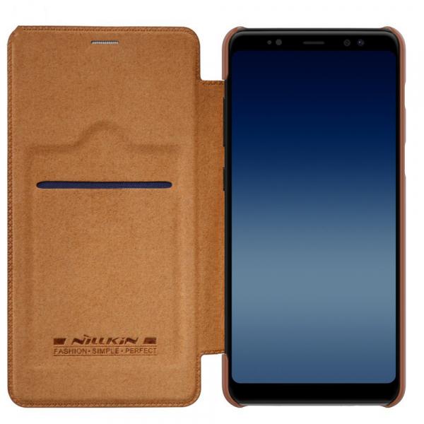 Husa Book Nillkin Qin Samsung Galaxy A8 (2018), Maro [2]