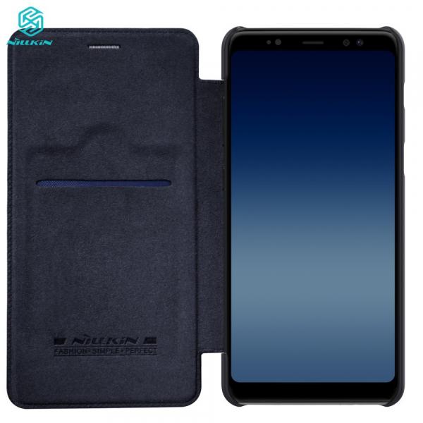 Husa Book Nillkin Qin Samsung Galaxy A8 (2018), Negru 2