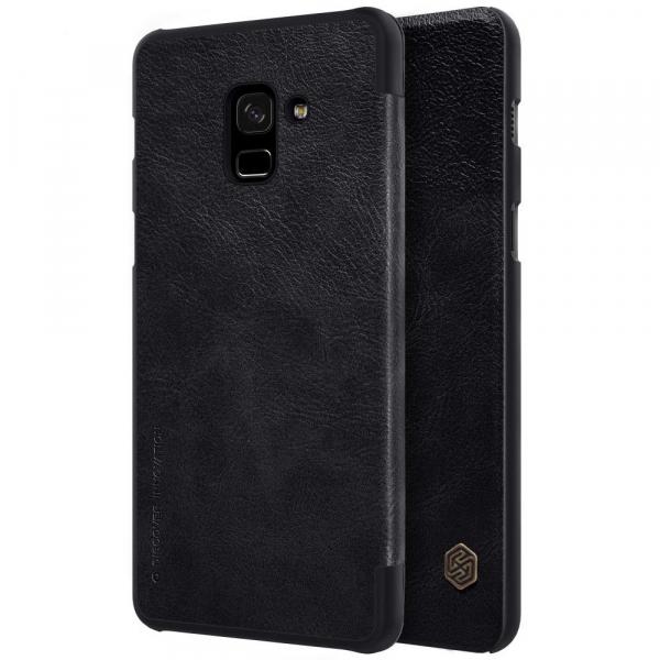 Husa Book Nillkin Qin Samsung Galaxy A8 (2018), Negru 1