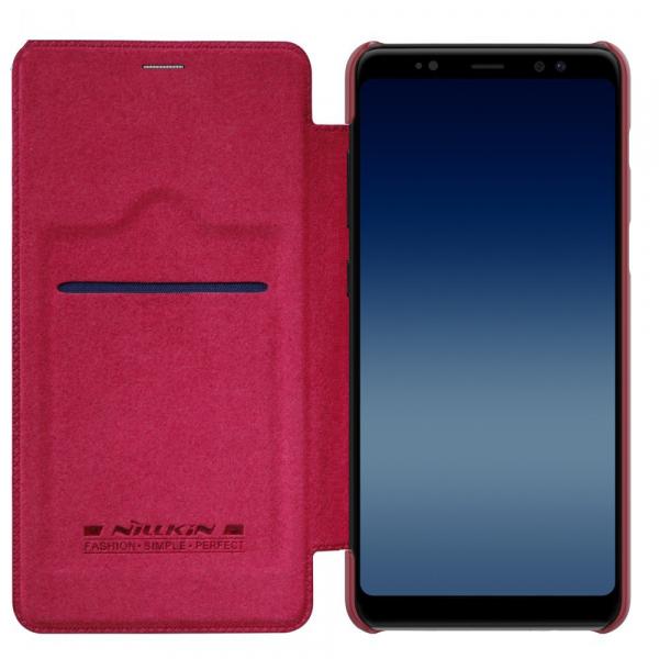 Husa Book Nillkin Qin Samsung Galaxy A8 (2018), Red [3]