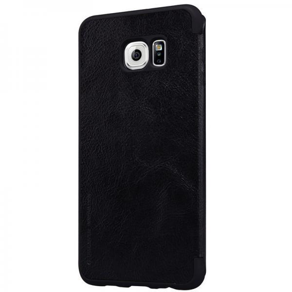 Husa Book Nillkin Qin Samsung Galaxy S6 Edge Plus, Negru [2]