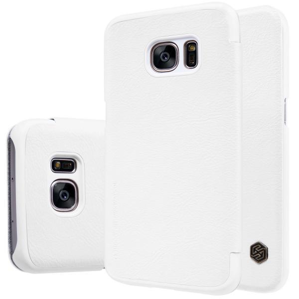 Husa Book Nillkin Qin Samsung Galaxy S7, Alb [4]
