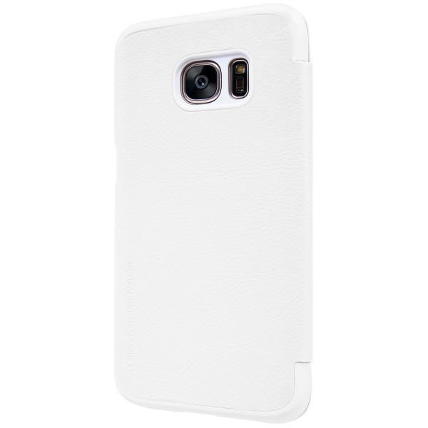 Husa Book Nillkin Qin Samsung Galaxy S7, Alb [3]